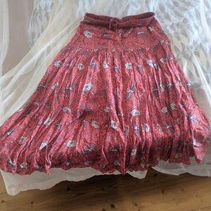 Auguste midi fiesta skirt, size US 4, EUC